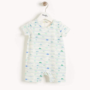 Blue Clouds Shorty Playsuit