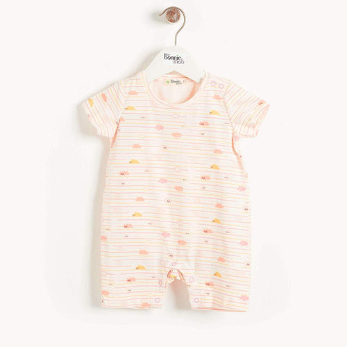 Peach Clouds Shorty Playsuit