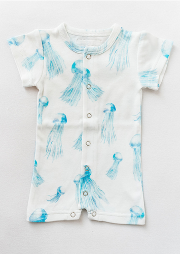 Jellyfish Short Sleeve Romper