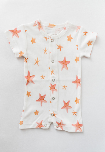 Starfish Short Sleeve Romper