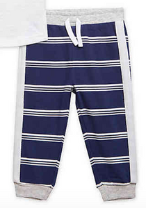 Navy Stripe Jogger