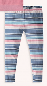 Kids Pink Multi Stripe Legging