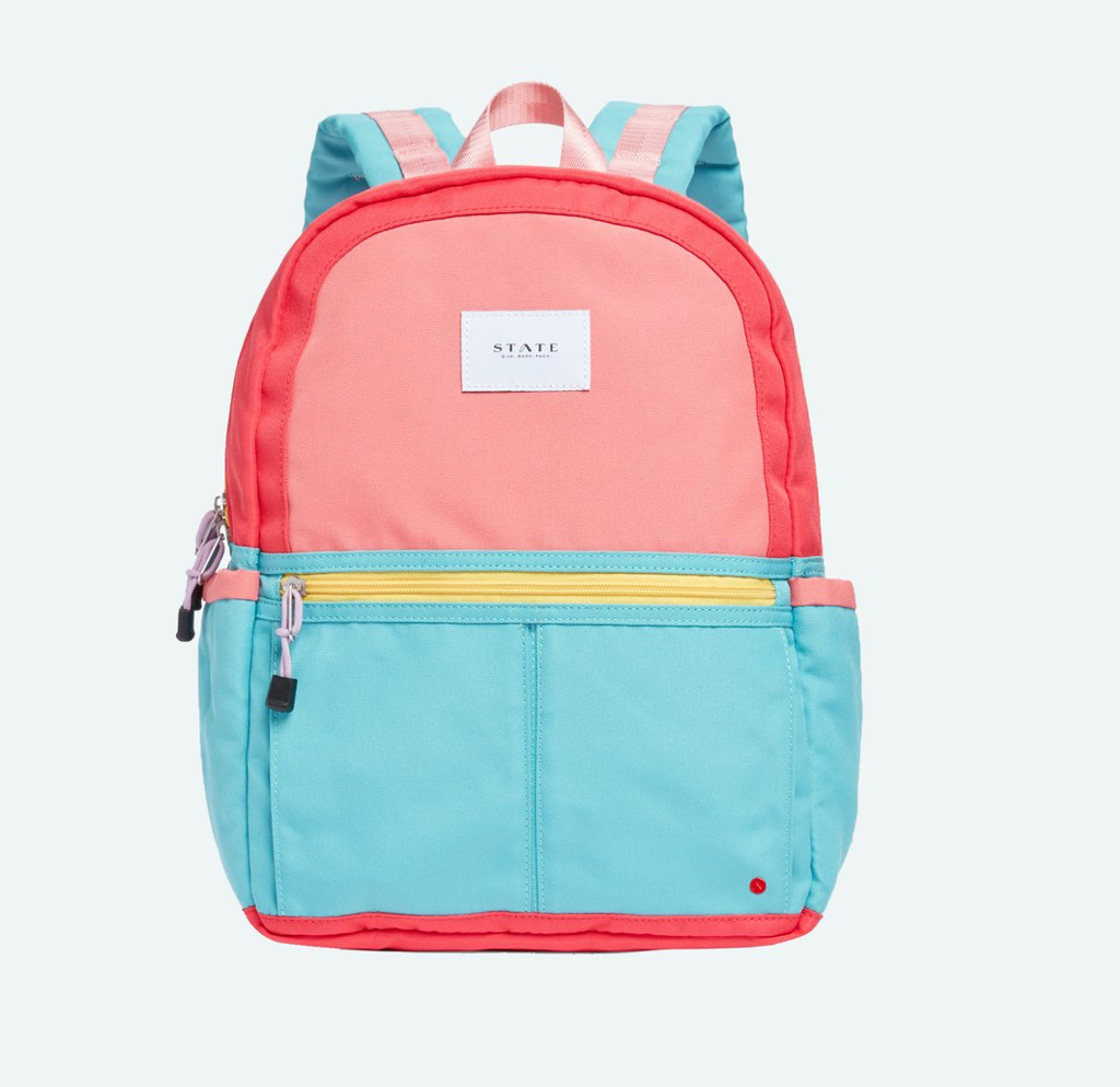 Kane Kids Pink Mint Color Block Backpack