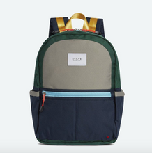 Load image into Gallery viewer, Kane Kids Green Navy Color Block Backpack