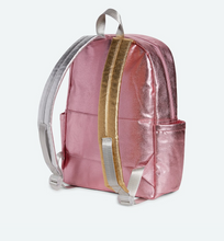 Load image into Gallery viewer, Kane Kids Travel Pink Silver Backpack