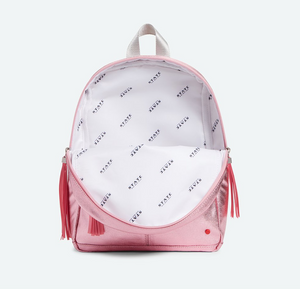 Mini Kane Travel Pink Silver Multi Backpack