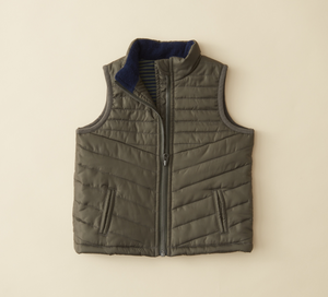 Stripe Lined Baby Puffy Vest