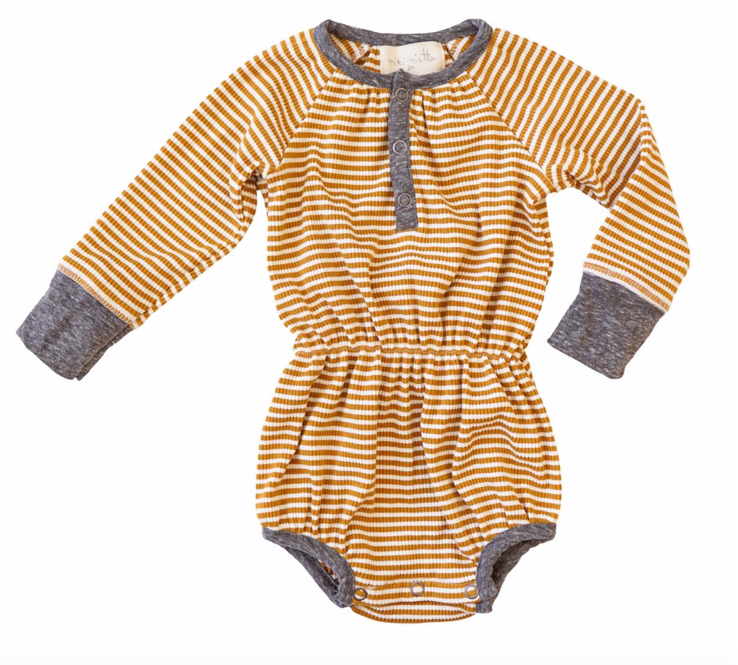 Ochre Stripe Jill Bubble