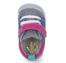 Load image into Gallery viewer, Stevie First Walker Pink Denim