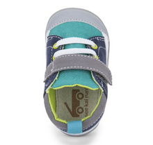 Load image into Gallery viewer, Stevie First Walker Teal Navy