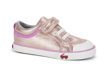 Load image into Gallery viewer, Kristin Sneaker Rose Shimmer