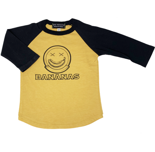 Bananas Raglan Long Sleeve Tee