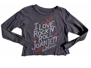 Joan Jett Long Sleeve Crop Tee