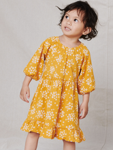 Load image into Gallery viewer, Mustard Floral Dress
