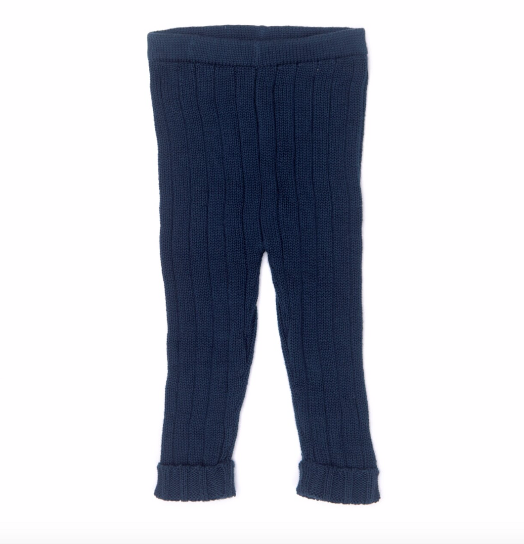 Dark Blue Knitted Leggings