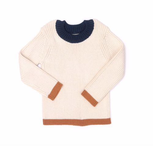 Mustard Blue Billie Ribbed Sweater