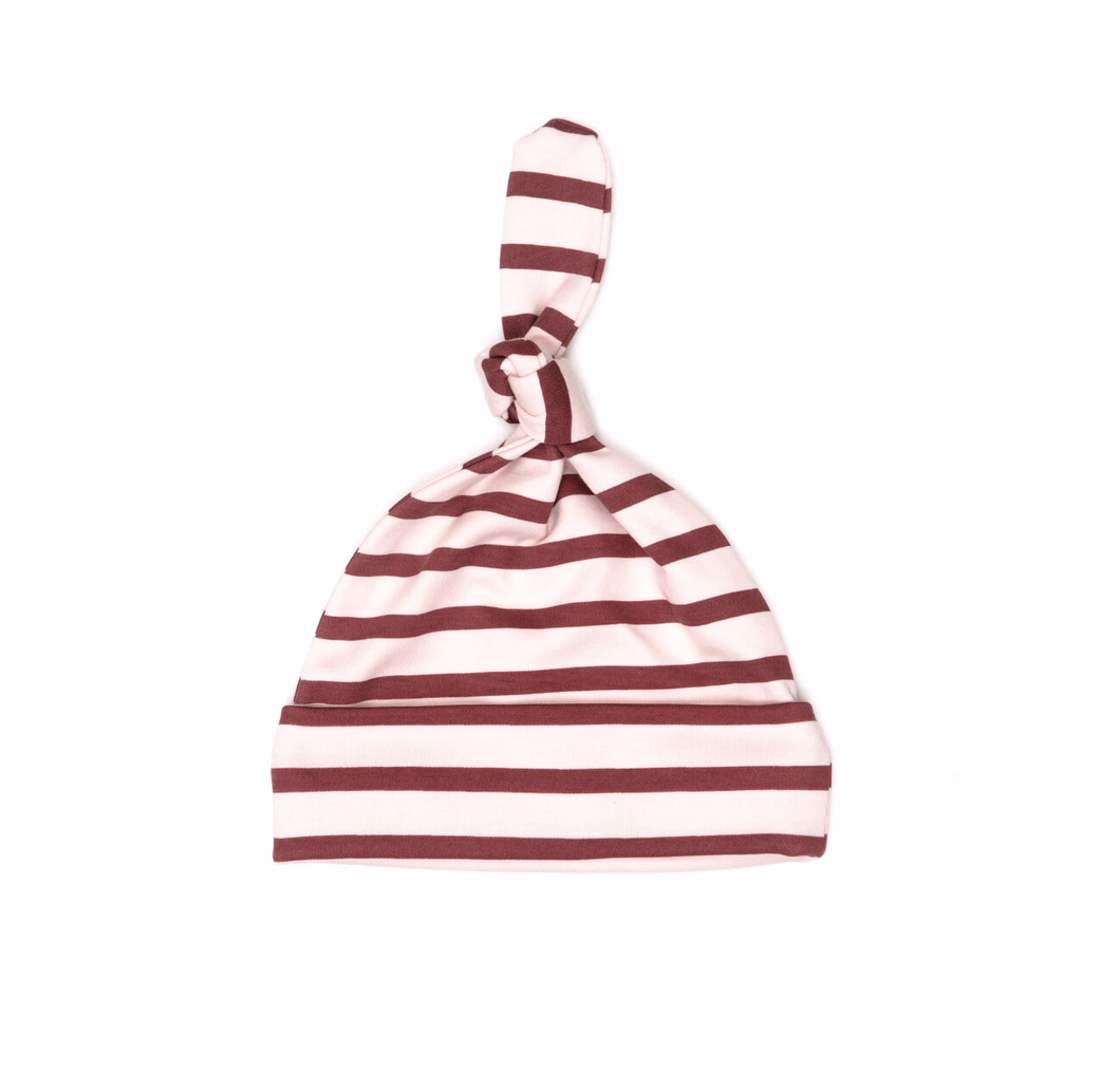 Pink Stripes Knot Hat