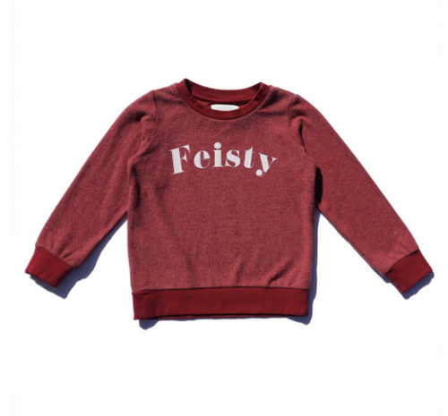 Feisty Hacci Pullover Cherry