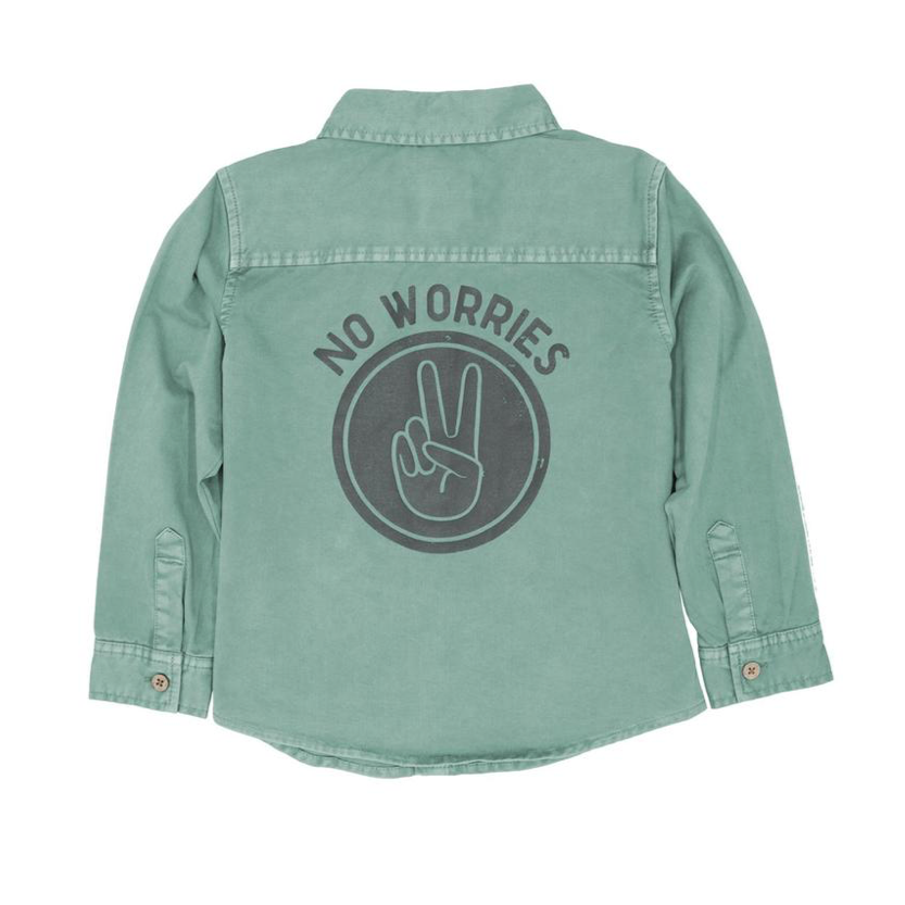 No Worries Long Sleeve Woven Shirt