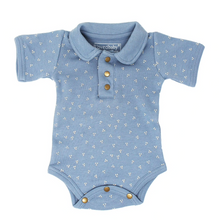 Load image into Gallery viewer, Pool Blue Dots Polo Bodysuit