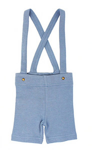 Pool Blue Suspender Shorts