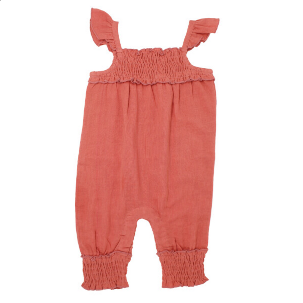 Baby Melon Muslin Sleeveless Jumpsuit