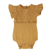 Load image into Gallery viewer, Honey Dots Smocked Short Sleeve Bodysuit