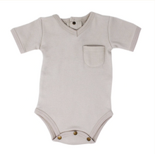 Load image into Gallery viewer, Light Grey V Neck Bodysuit