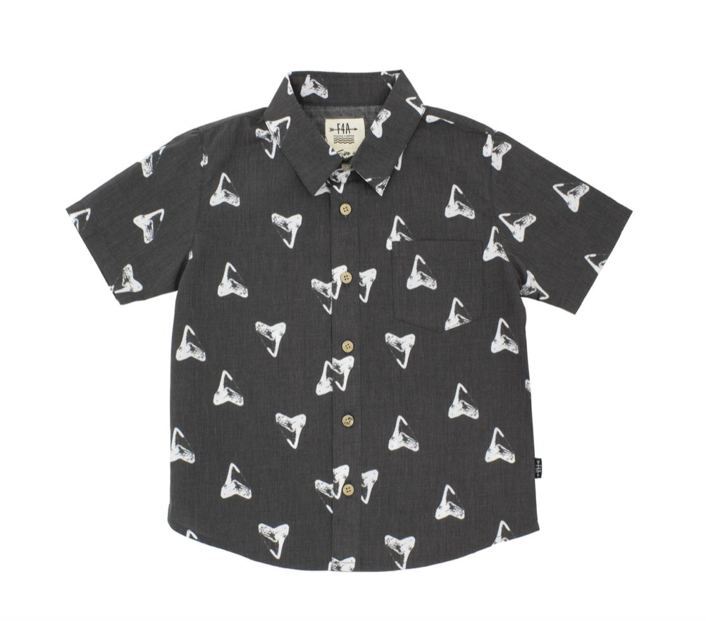 Shark's Tooth Short Sleeve Collared Shirt