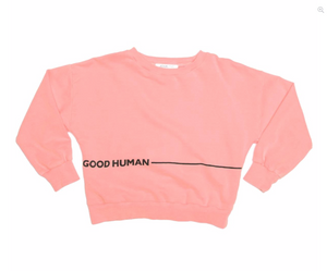 Neon Coral Good Human Bowie Sweater