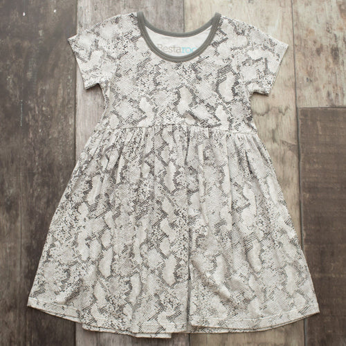 Snake Print Short Sleeve Dress