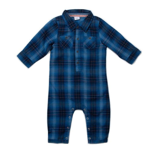 Blue Plaid Jax Romper