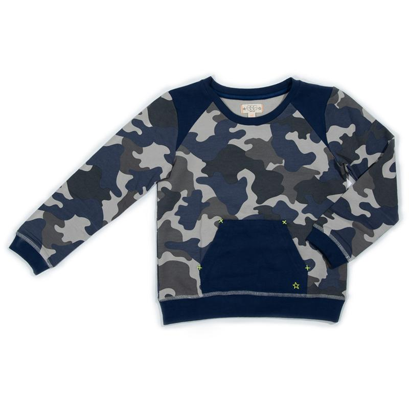 Chambray Camo Theo Top