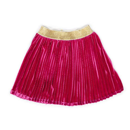 Berry Velvet Margaret Skirt