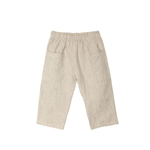 Flax Navy Stripe Woven Pocket Pant