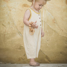 Load image into Gallery viewer, Natural Mustard Leo Romper