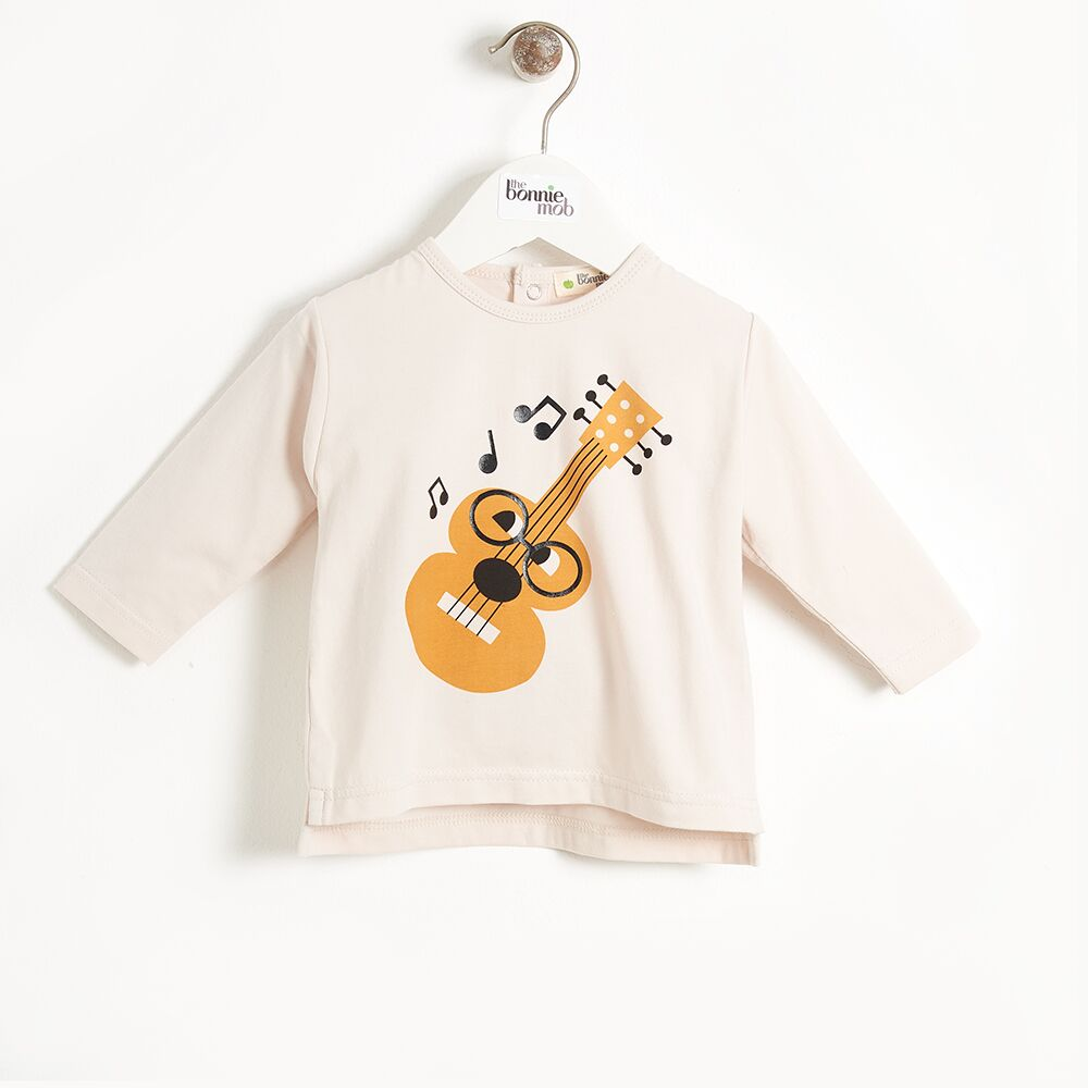 Placed Guitar Long Sleeve Tee