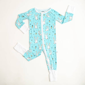 Aqua Bunnies Zippy Pajama