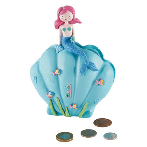 Mermaid Resin Money Bank