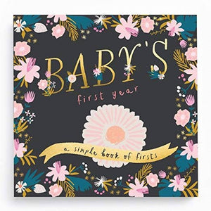 Golden Blossom Baby Memory Book