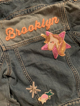 Load image into Gallery viewer, Custom Embroidered Denim Jacket