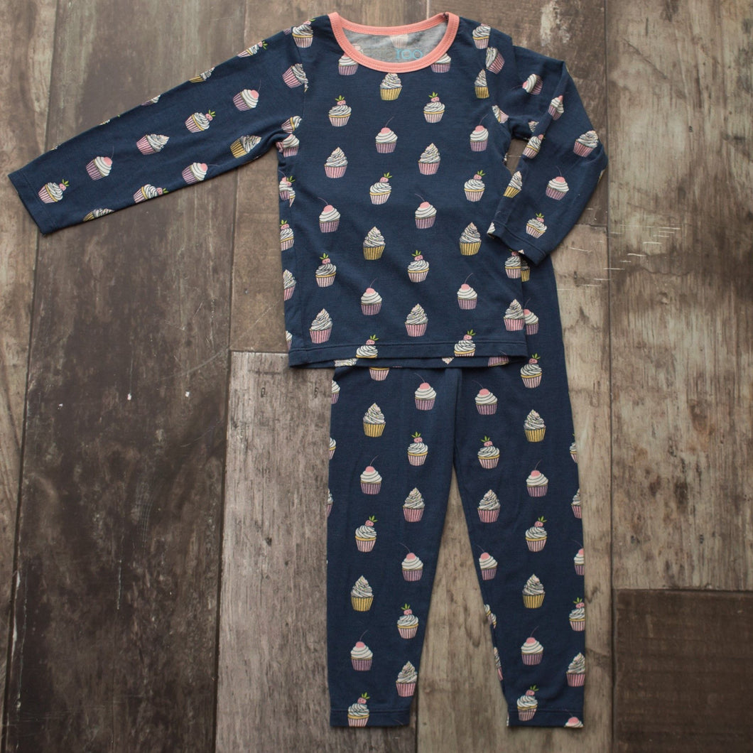 Navy Cupcakes 2 Piece Pajama Set