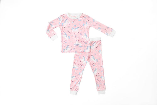 Pink Unicorns Two Piece PJ Set