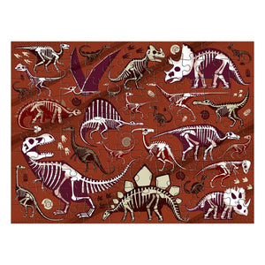 Dinosaur Dig 100 Piece Double Sided Puzzle