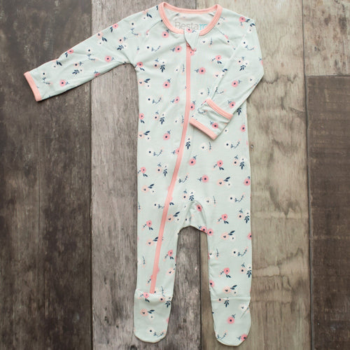 Spring Bloom Footie Zip Pajama
