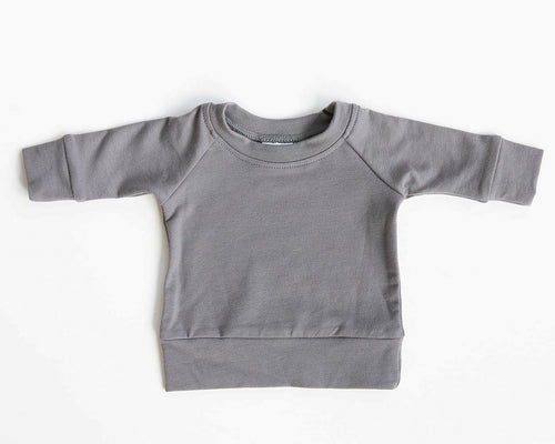 Slate French Terry Crew Neck Sweatshirt