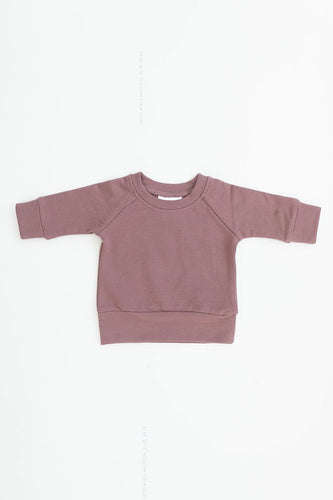 Rose French Terry Crew Neck Sweatshirt