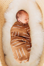 Load image into Gallery viewer, Mustard Mudcloth Muslin Swaddle Blanket