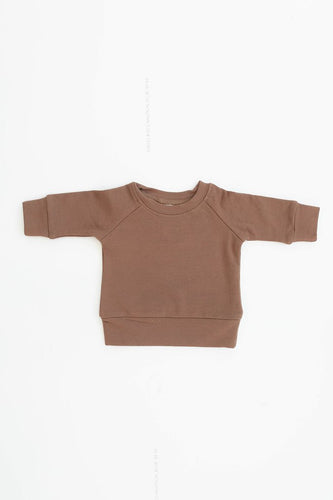 Camel French Terry Crew Neck Sweatshirt
