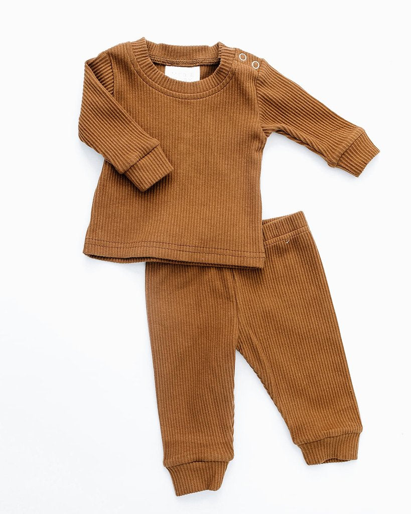 Honey Ribbed Two Piece Cozy Set